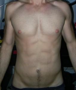 74kg, plus de muscles et des abdos !